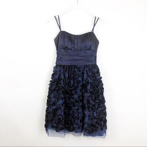 Cache | Navy Blue Cocktail Bridesmaid Tulle Dress